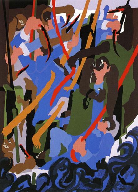 Jacob Lawrence, 'Revolt on the Amistad ', 1989