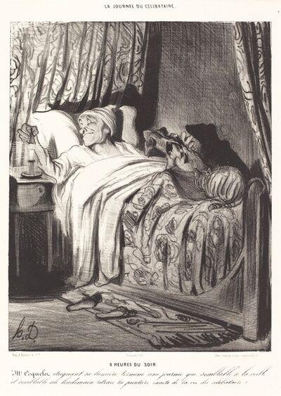 Honoré Daumier, '9 heures du soir', 1839