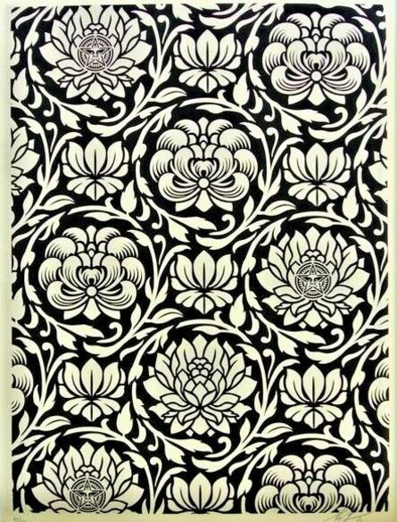 Shepard Fairey, 'Floral Harmony Black Yin Yang', 2020