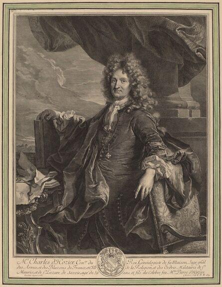 Gerard Edelinck after Hyacinthe Rigaud, 'Charles-Rene d'Hozier', 1691