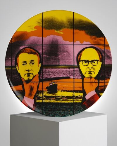 """Gilbert and George, '""""Light Headed"""" Porcelain Plate', ca. 2019"""