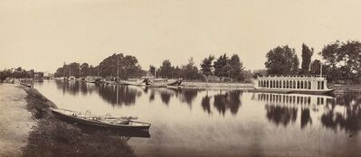 Victor Albert Prout, 'Barges at Oxford', 1862