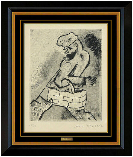 Marc Chagall, 'Man with a Basket', 1922