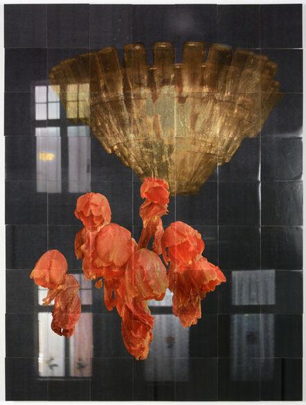 Henrik U. Müller, 'Kronleuchter mit Tulpen II / Chandelier with tulips II', 2019