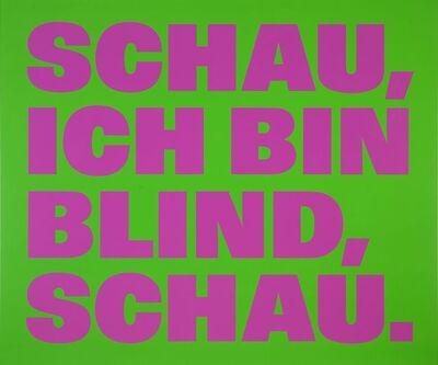 Remy Zaugg, 'Über die Blindheit 12 ', 1999