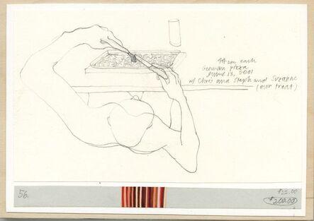 Danica Phelps, 'German pizza. #56.', 2001