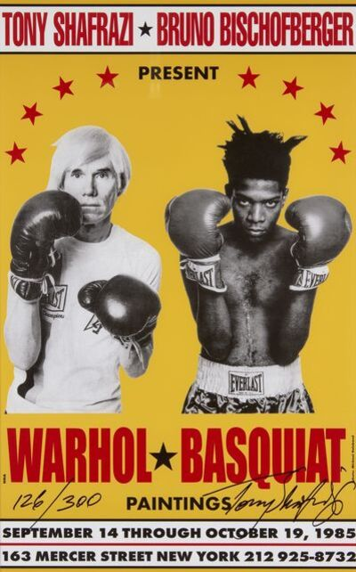 Jean-Michel Basquiat, 'Poster for Warhol/Basquiat Paintings', 1985