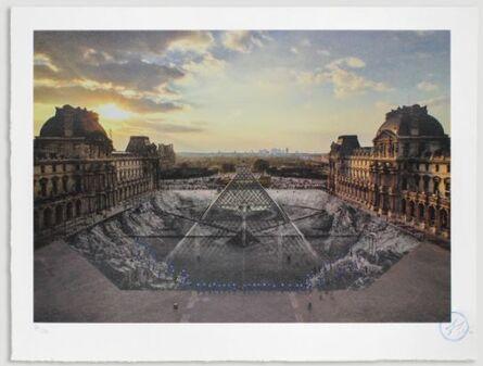JR, 'JR au Louvre, 29 Mars 2019, 19h45', 2021