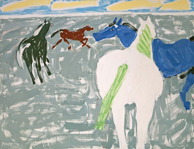 Stephen Pace, 'Four Horses', 1974