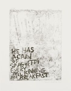 Janet Milner, 'A Can of Spaghetti', 2014