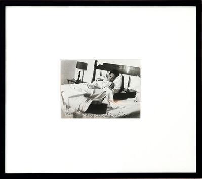 Ketty La Rocca, 'Photograph with J in the bed (con inquietudine)', 1969-1970