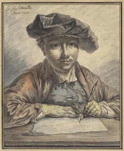 Georg Friedrich Schmidt, 'Self-Portrait Sketching', 1752