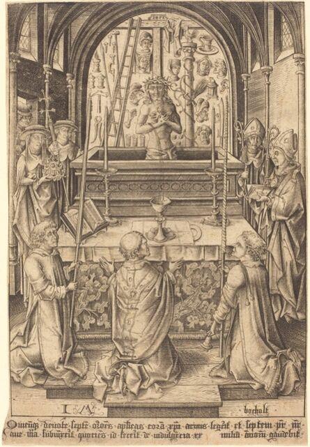 Israhel van Meckenem, 'The Mass of Saint Gregory', ca. 1480/1485