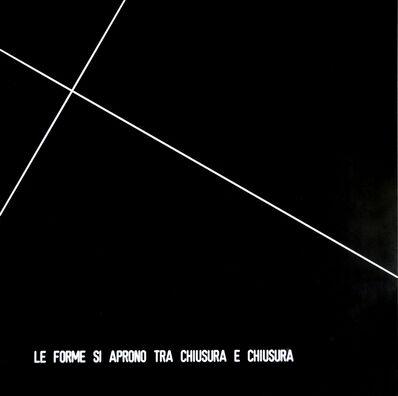 Vincenzo Agnetti, 'Forms Open Between Closure and Closure (Le Forme Si Aprono Tra Chiusura e Chiusura)', 1971