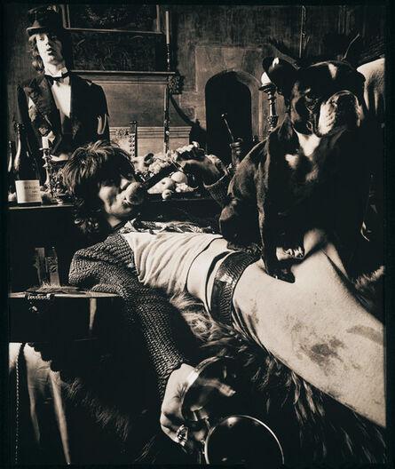 Michael Joseph, 'Mick Jagger and Keith Richards, 1968 - Keith & Pug with Mick at Sarum Chase, Beggars Banquet', 1968