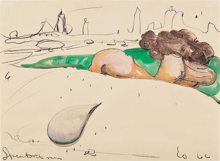 Claes Oldenburg, 'Spentcock Man', 1966