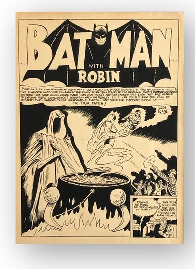 Bob Kane (1915-1998), 'Batman with Robin', ca. 1940s