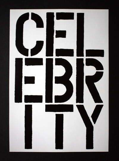 Christopher Wool, 'Christopher Wool - Page from Black Book (Celebrity)', 1989