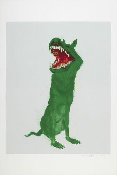 Zhou Chunya 周春芽, 'Green Dog ', 2006