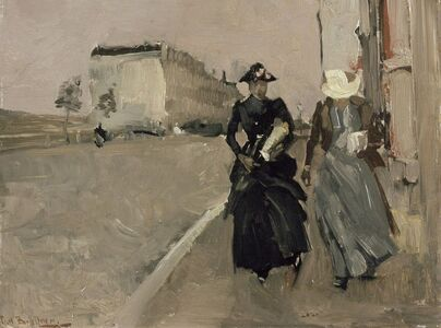 George Hendrik Breitner, 'Gust of wind', 1886/1898