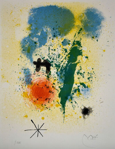 Joan Miró, 'Preface, from 52 Affiches', 1963