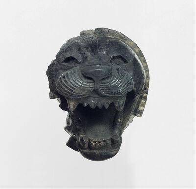 Unknown Assyrian, 'Furniture element carved in the round with the head of a roaring lion', ca. 9th–8th century B.C.