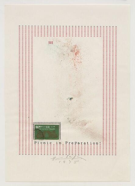 Henri Chopin, 'Picnic in Preparation!', 1975