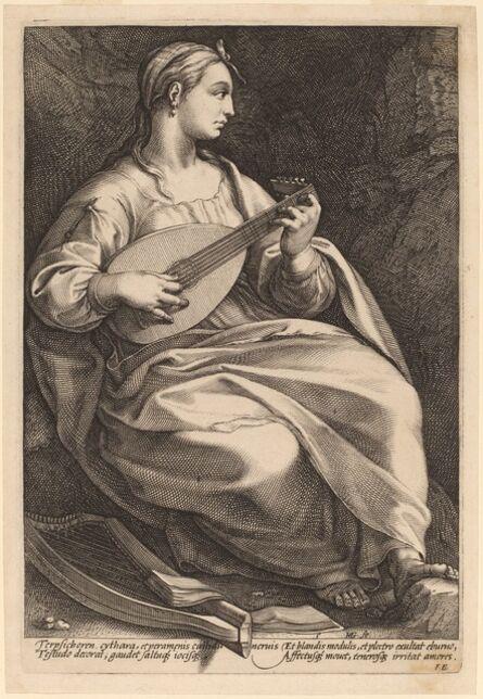 Hendrik Goltzius, 'Terpsichore', probably 1592