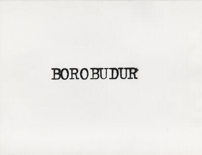 Carlos Ginzburg, 'Ginzburg à Borobudur, Indonésie', 1979