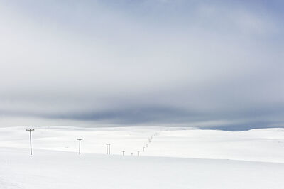 Magnus Nilsson, 'Power Lines in Snow, Close to North Cape, Norway, Spring', 2014