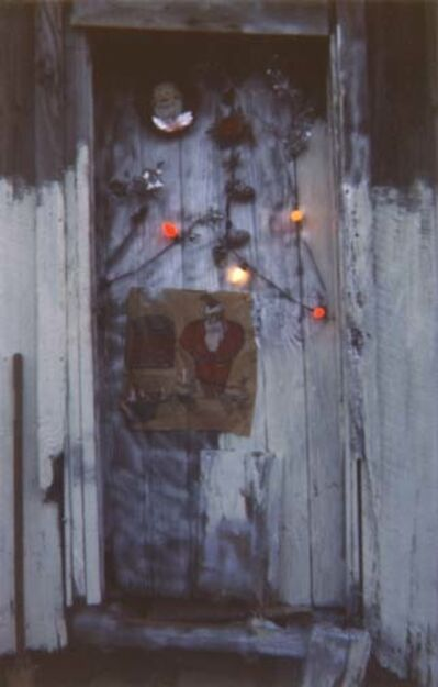 William Christenberry, 'Door of House at Christmas Time, Greenboro, Alabama', 1971