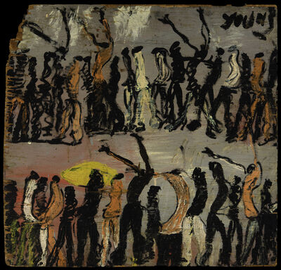 Purvis Young, '[Procession with Raised Arms]', early 1970s