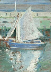 John Henry Twachtman, 'Gloucester Sailboat', ca. 1900