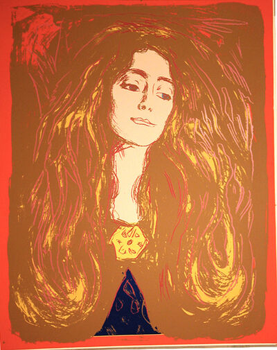 Andy Warhol, 'Eve Mudocci (After Munch)', 1984