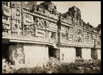 Claude Joseph Désiré Charnay, '[Nunnery complex (Uxmal, Mexico): detail of facade frieze]', 1882