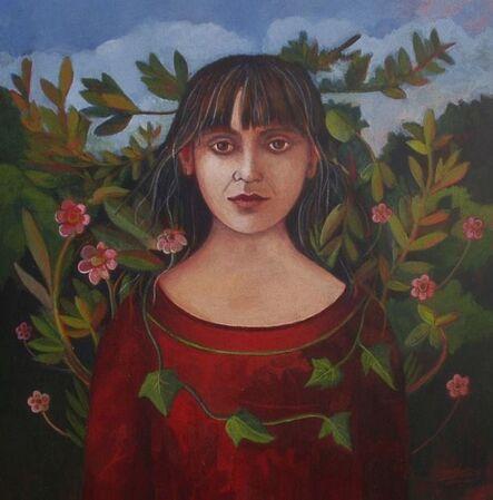 Nicola Slattery, 'Self-Portrait with Leaves', 2015