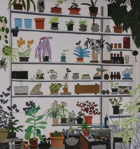 After Jonas Wood, 'Large Shelf Still Life', 2017