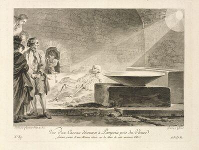 Jean Claude Richard de Saint-Non (author), 'No. 89: Vue d'un Caveau decouvert a Pompeia pres du Vesuve', 1781