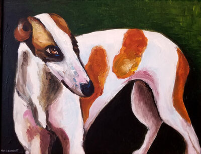 Vian Borchert, 'Greyhound in an Existential Green Field', 2007