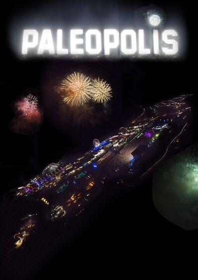 """Claude Baechtold, 'Poster from the movie """"Paléopolis""""'"""