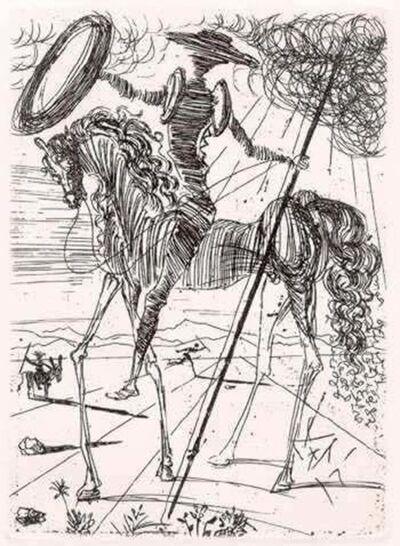 Salvador Dalí, 'Don Quixote de la Mancha', 1957
