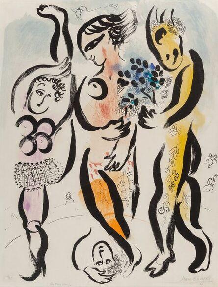Marc Chagall, 'Les Trois Acrobates', 1957