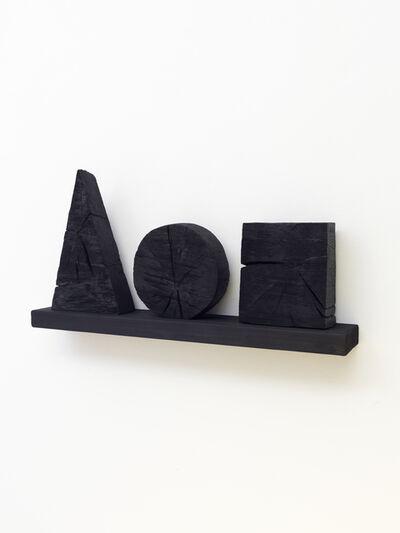 David Nash, 'Triangle, Circle, Square  ', 2020