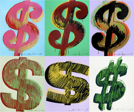 """Andy Warhol, 'Complete set of 6 """"Dollar Signs"""" 1981', 1981"""