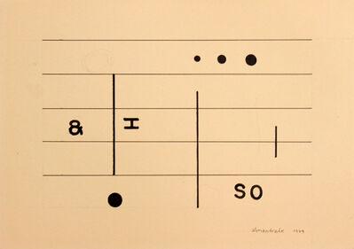 Almandrade, 'Untitled - Visual Poem', 1979
