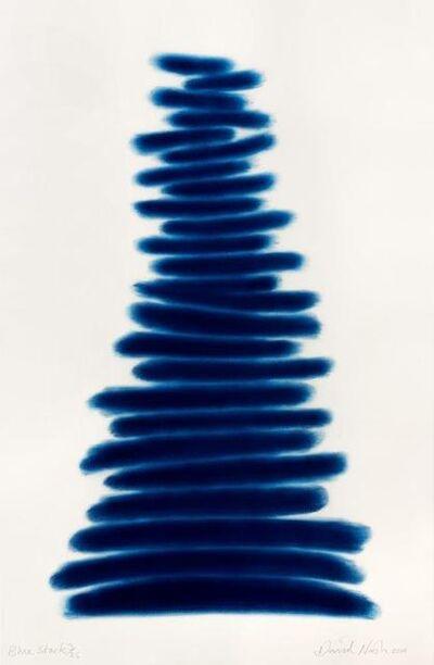 David Nash, 'Blue Stack', 2018