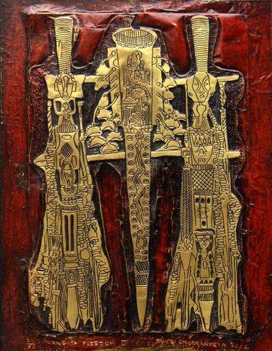 Bruce Onobrakpeya, 'Horns of freedom', 2006