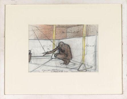 Bruno Gironcoli, 'Ohne Titel (Metallguß in Gummihülle [weiß])', 1975