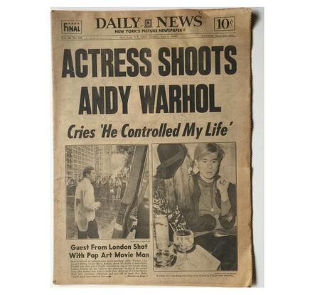 """Andy Warhol, '""""ACTRESS SHOTS ANDY WARHOL"""" NY Daily News, 1968', 1968"""