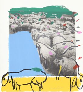 Menashe Kadishman, 'SHEEP Portfolio, 7', 1981